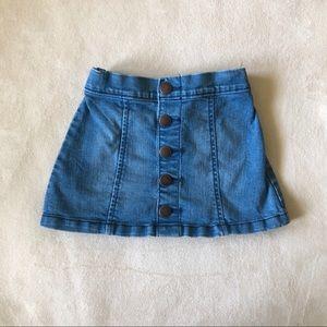 Old Navy Denim Skirt Button Down Size 3T